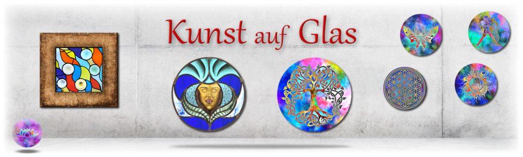 banner-kunst auf glas