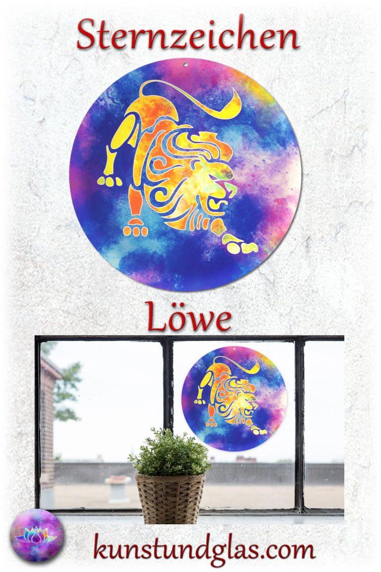 #Fensterbild ✯ #Löwe Nr. 07. Sonnen #Lichtfänger #Fenster #Glas #Bild #Dekoration #Astrologie #Geschenk Tierkreiszeichen - Eigenschaften: tapfer, willensstark, #fleißig, risikofreudig, missmutig, ungeduldig, gewaltbereit Material: künstlerisch gestaltetes Acrylglas mit Loch zum aufhängen. Wunderschöner künstlerisch gestalteter #Sonnenfänger mit leuchtenden Farben. Farbenprächtige #Fensterdekoration auch für den Außenbereich wie Balkon, Terrasse oder Garten sehr gut geeignet.