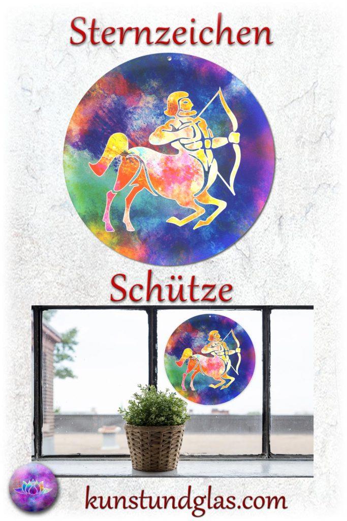 #Fensterbild ✯ #Schütze Nr. 11. Sonnen #Lichtfänger #Fenster #Glas #Bild #Dekoration #Astrologie #Geschenk Tierkreiszeichen - Eigenschaften: tapfer, willensstark, #fleißig, risikofreudig, missmutig, ungeduldig, gewaltbereit Material: künstlerisch gestaltetes Acrylglas mit Loch zum aufhängen. Wunderschöner künstlerisch gestalteter #Sonnenfänger mit leuchtenden Farben. Farbenprächtige #Fensterdekoration auch für den Außenbereich wie Balkon, Terrasse oder Garten sehr gut geeignet.