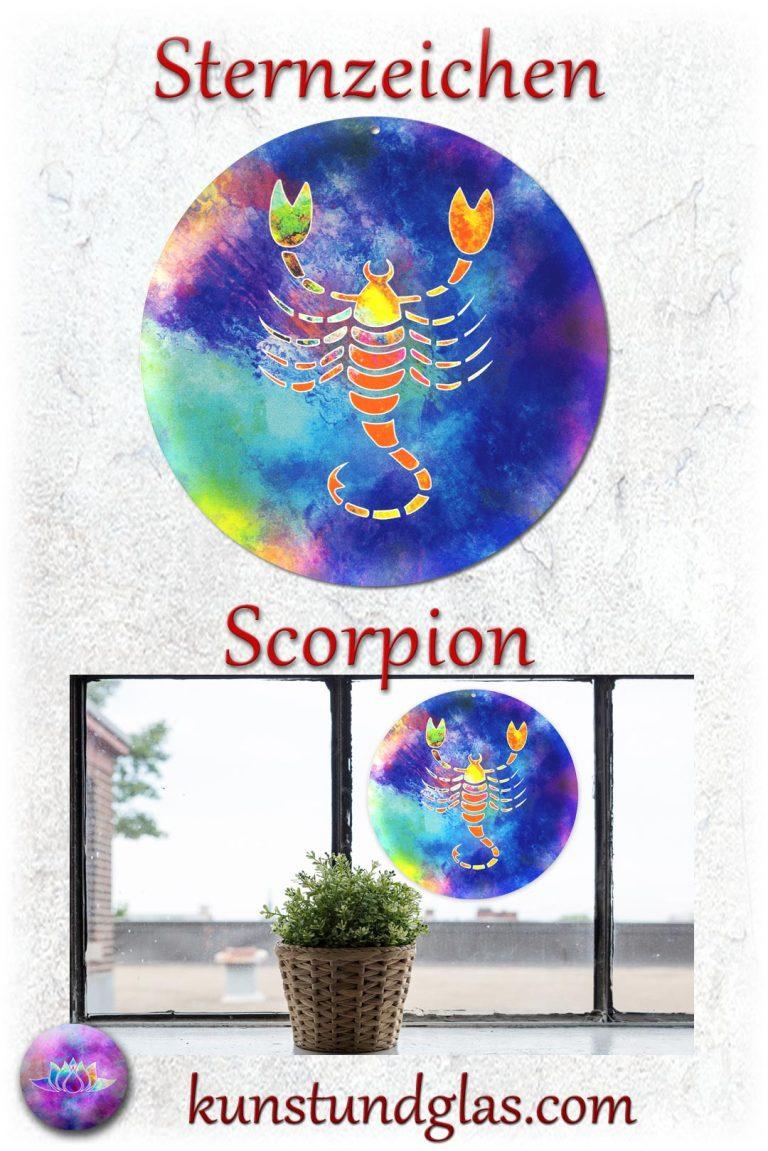#Fensterbild ✯ #Scorpion Nr. 12. Sonnen #Lichtfänger #Fenster #Glas #Bild #Dekoration #Astrologie #Geschenk Tierkreiszeichen - Eigenschaften: tapfer, willensstark, #fleißig, risikofreudig, missmutig, ungeduldig, gewaltbereit Material: künstlerisch gestaltetes Acrylglas mit Loch zum aufhängen. Wunderschöner künstlerisch gestalteter #Sonnenfänger mit leuchtenden Farben. Farbenprächtige #Fensterdekoration auch für den Außenbereich wie Balkon, Terrasse oder Garten sehr gut geeignet.