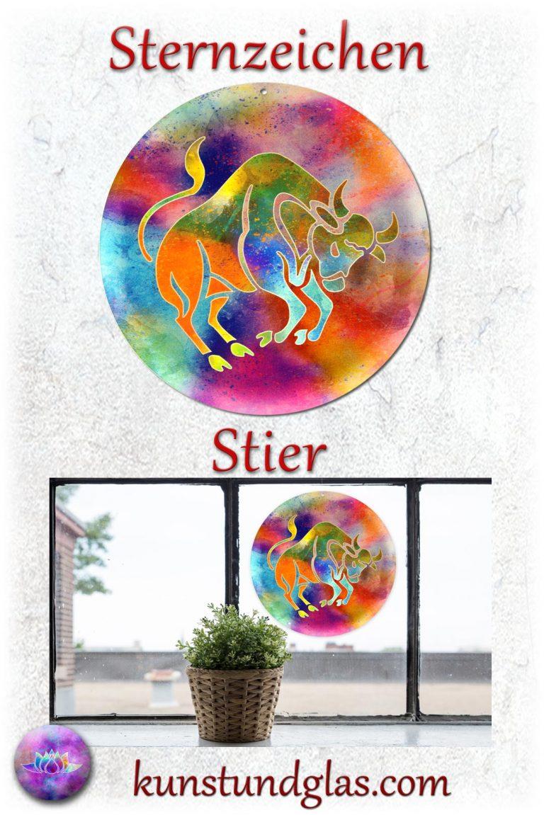 #Fensterbild ✯ #Stier Nr. 04 #Wassermann Sonnen #Lichtfänger #Fenster #Glas #Bild #Dekoration #Astrologie #Geschenk Tierkreiszeichen - Eigenschaften: tapfer, willensstark, #fleißig, risikofreudig, missmutig, ungeduldig, gewaltbereit Material: künstlerisch gestaltetes Acrylglas mit Loch zum aufhängen. Wunderschöner künstlerisch gestalteter #Sonnenfänger mit leuchtenden Farben. Farbenprächtige #Fensterdekoration auch für den Außenbereich wie Balkon, Terrasse oder Garten sehr gut geeignet.