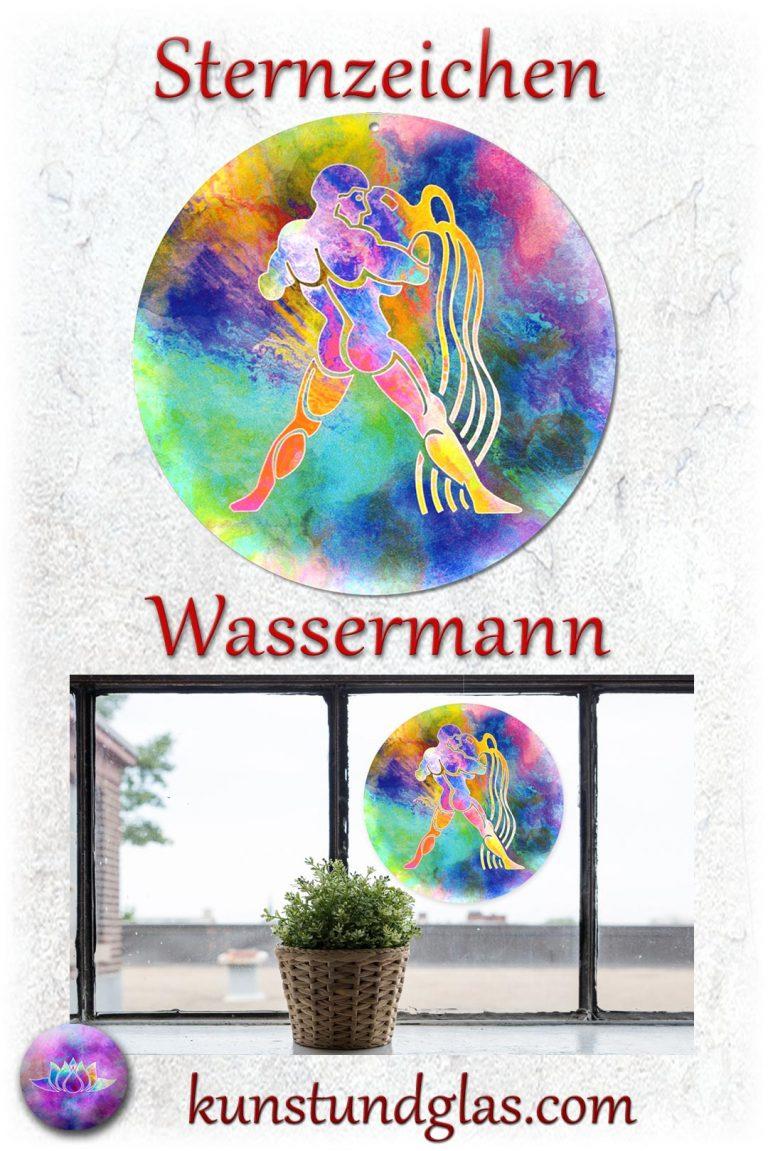 #Fensterbild ✯ #Sternzeichen Nr. 01 #Wassermann Sonnen #Lichtfänger #Fenster #Glas #Bild #Dekoration #Astrologie #Geschenk Tierkreiszeichen - Eigenschaften: tapfer, willensstark, #fleißig, risikofreudig, missmutig, ungeduldig, gewaltbereit Material: künstlerisch gestaltetes Acrylglas mit Loch zum aufhängen. Wunderschöner künstlerisch gestalteter #Sonnenfänger mit leuchtenden Farben. Farbenprächtige #Fensterdekoration auch für den Außenbereich wie Balkon, Terrasse oder Garten sehr gut geeignet.
