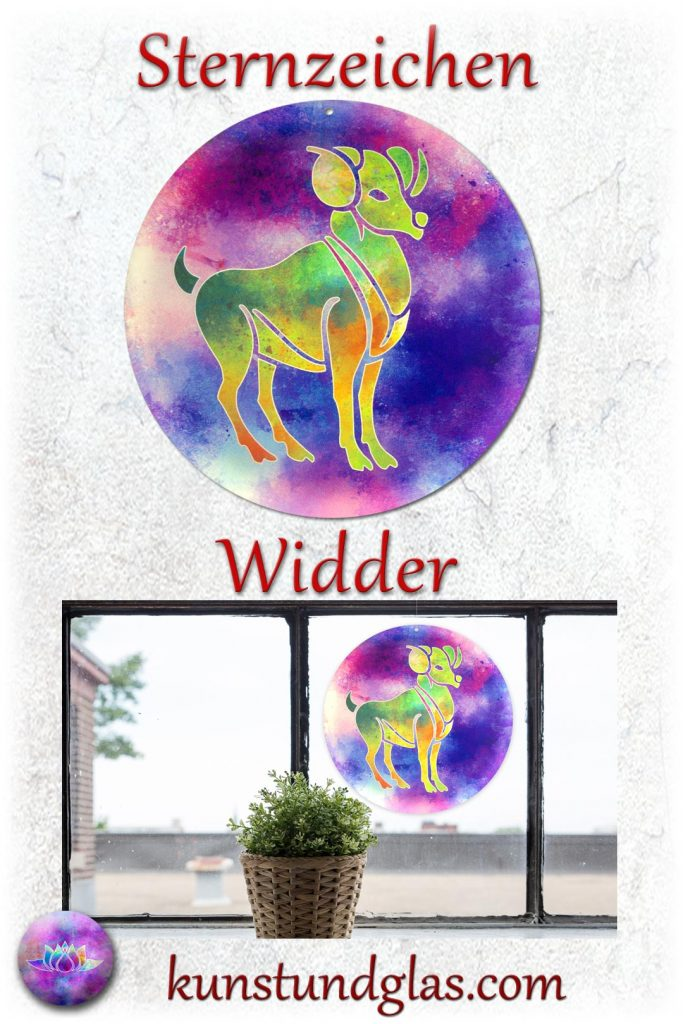 Star Sign Widder - Kunst und Glas