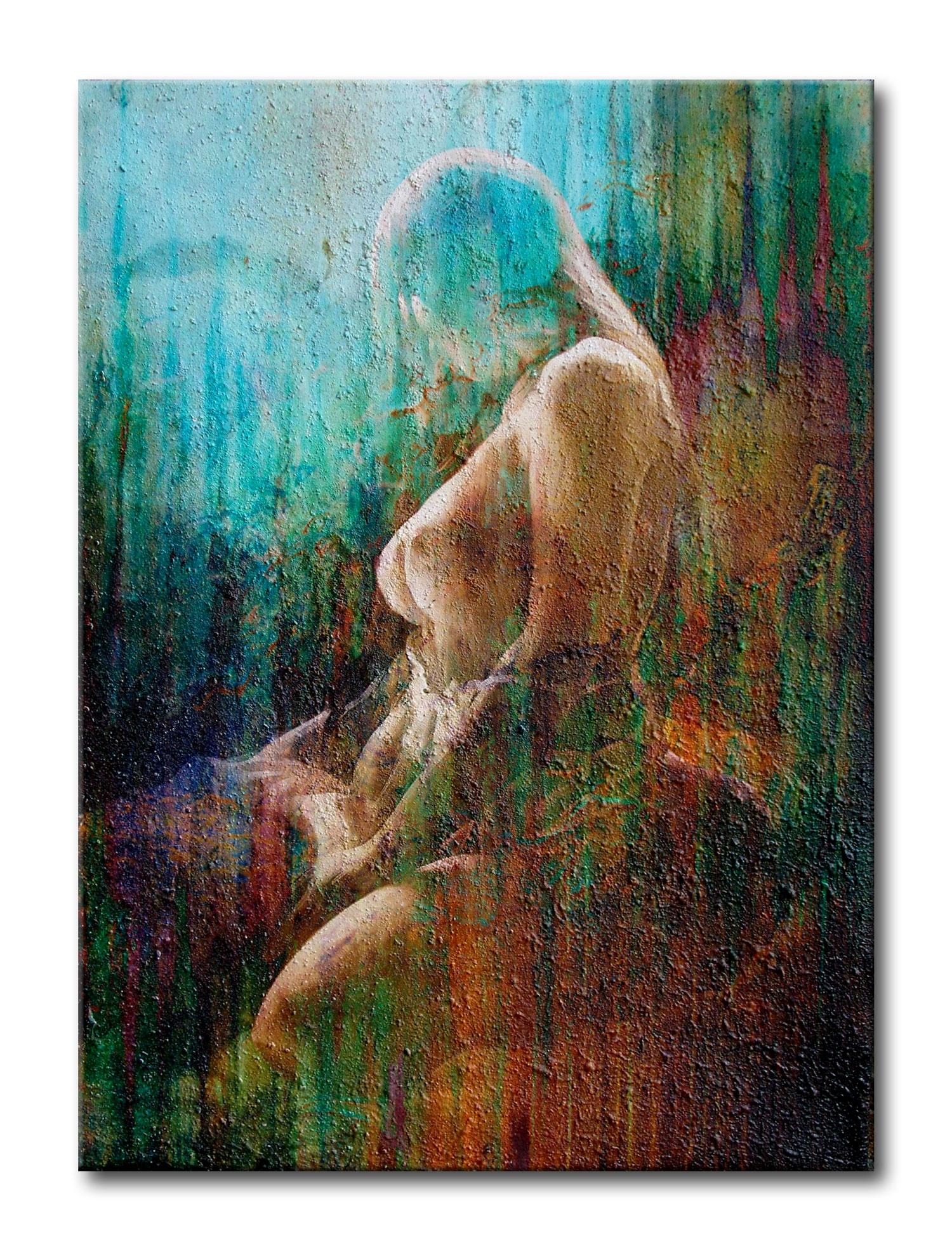 ❤ erotischer Akt auf Sand - Malerei ✓ Gemälde günstig ...
