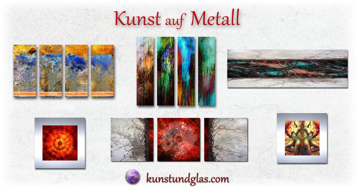 Bild Auf Metall Moderne Abstrakte Kunst Kaufen Wandobjekt Deko
